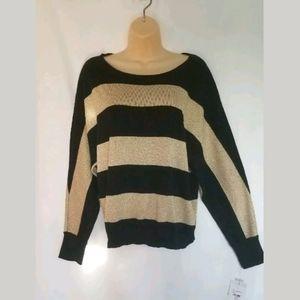 NWT Liz Claiborne Black Gold Long Sleeve Size L